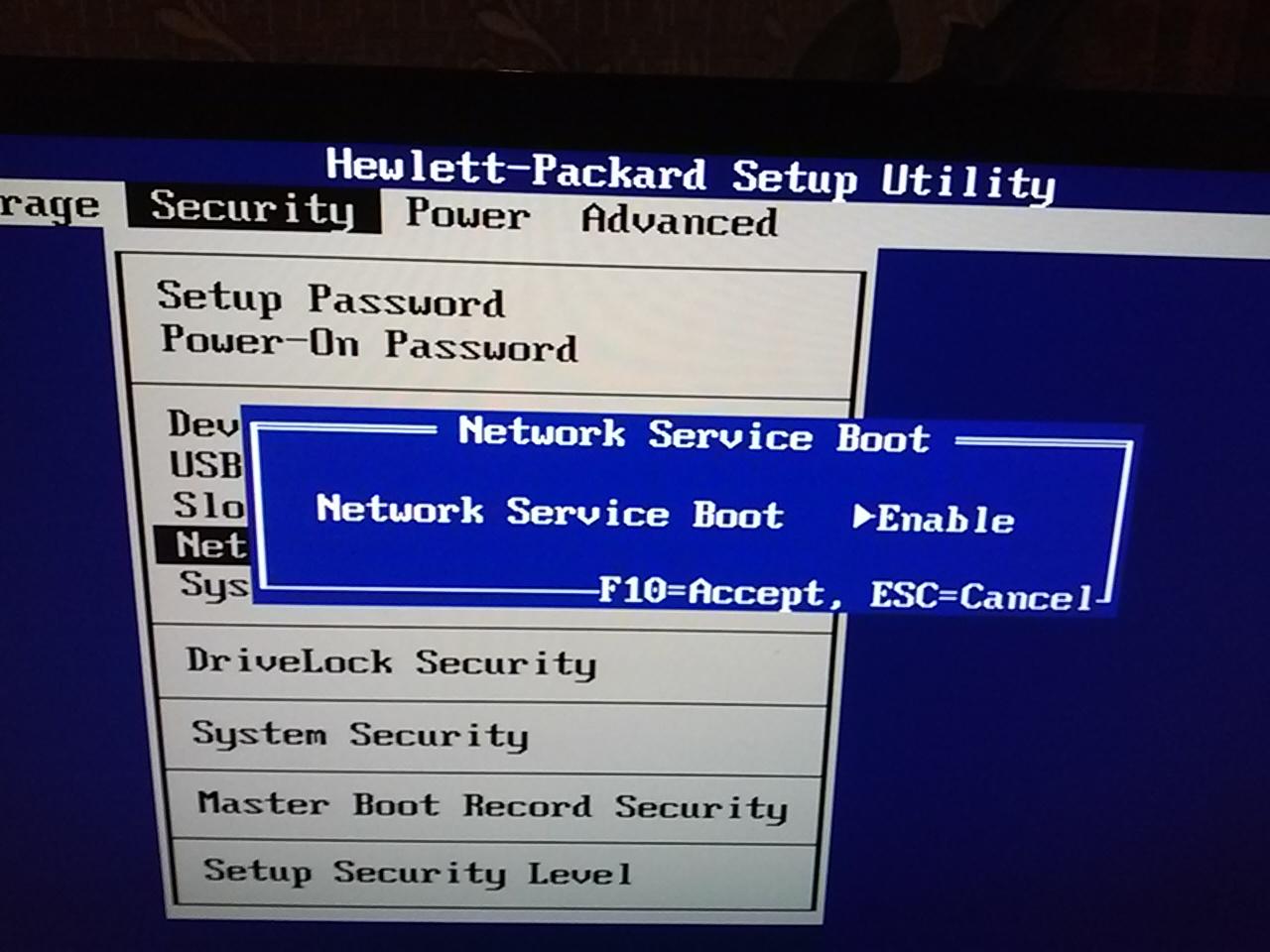 hp compaq elite 8000 sff wake on lan don't work - HP Support