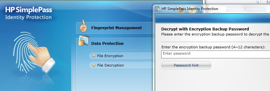 HP SimplePass Failure to decrypt File - HP Support Community
