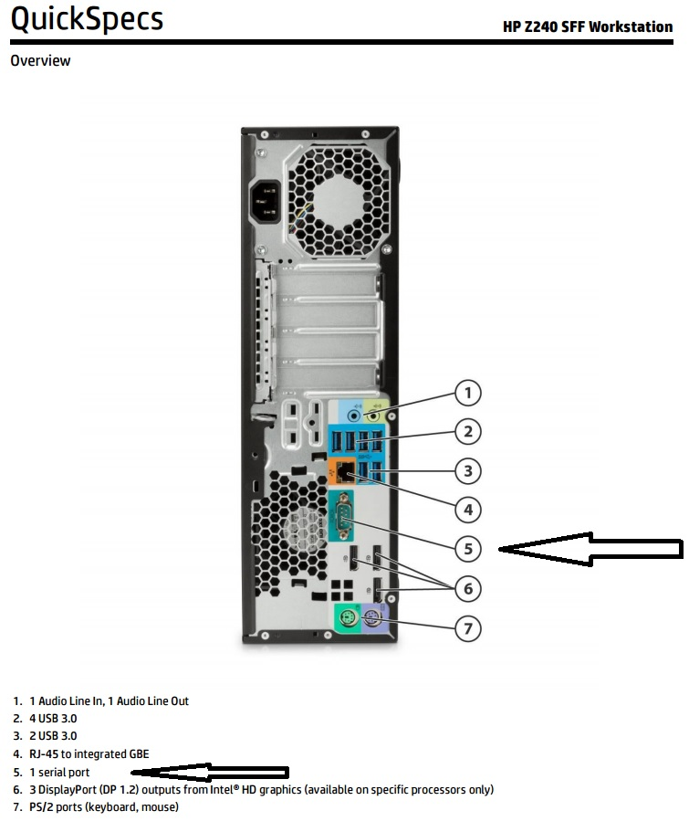 HP PA716A Serial Port Adapter