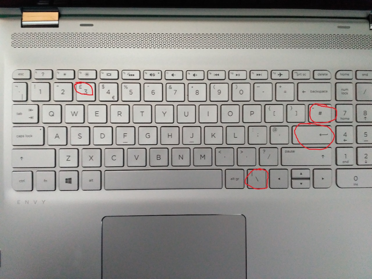 US Keyboard Layout on UK model - HP Support Community - 5954008