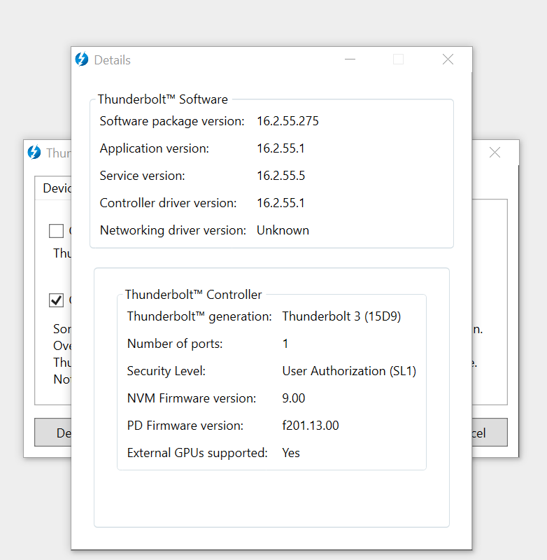 Thunderbolt 3 Controller Firmware on HP Spectre 15 - HP