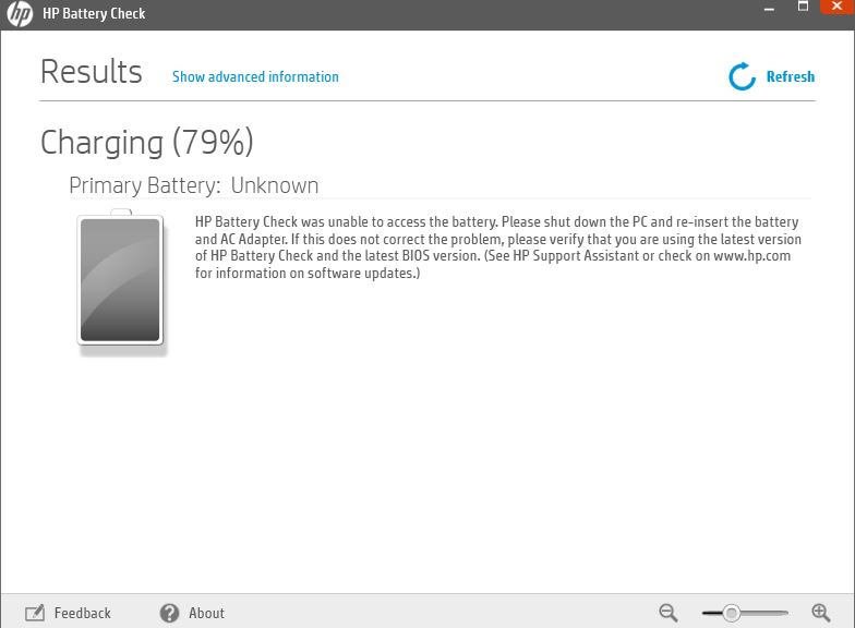 Battery Status Unknown - HP Support Community - 5967963