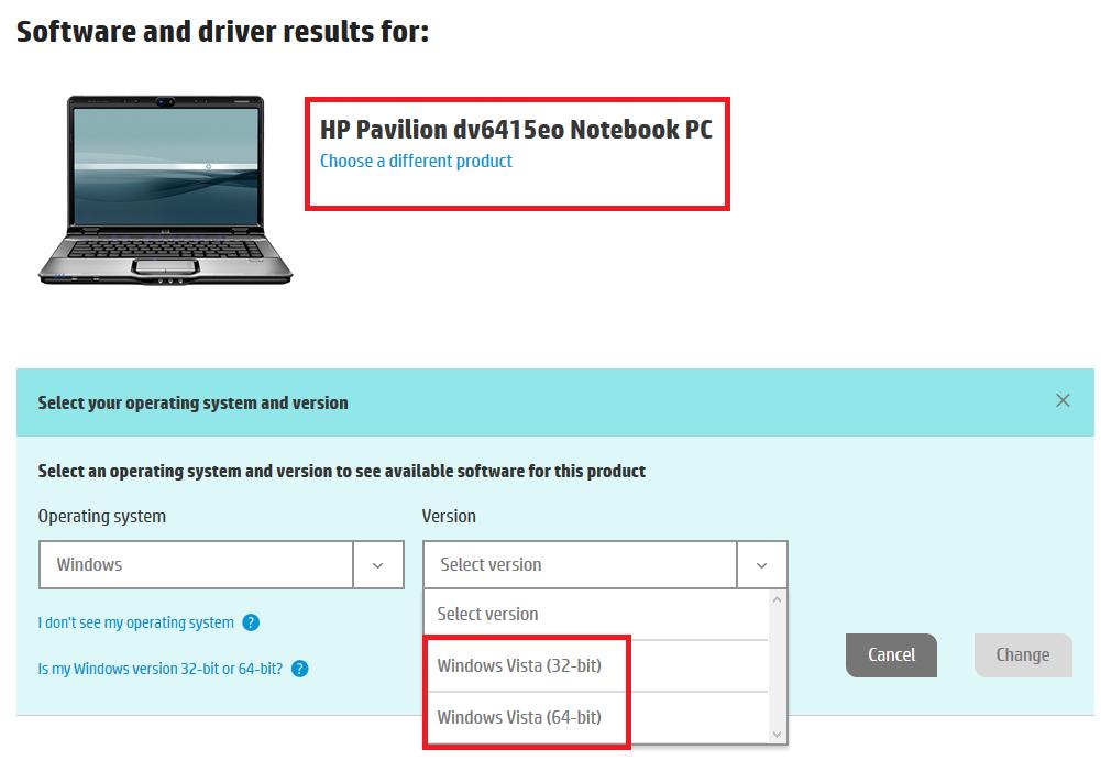 HP Pavilion dv6415eo windows 10 32 bit drivers - HP Support