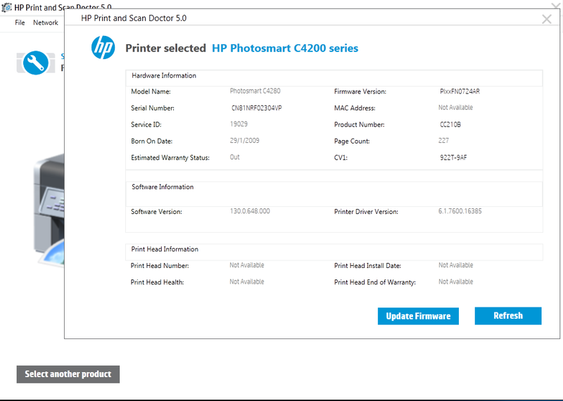 It is possible to update the firmware for this - Hp C4280 ? - HP