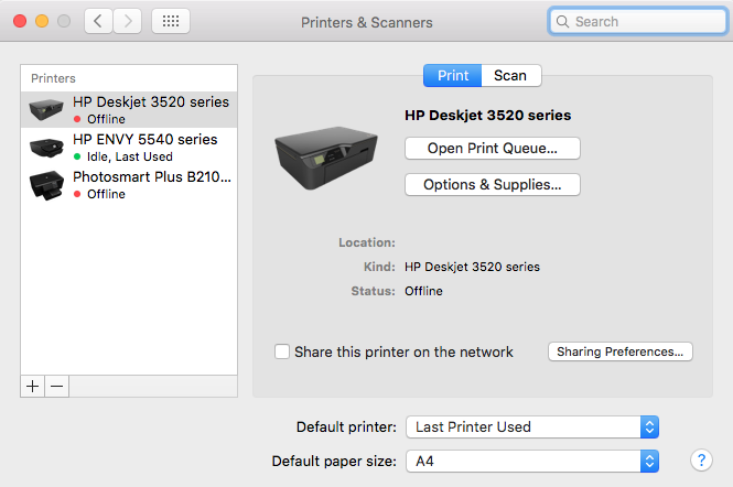 why isnt my printer printing from my mac