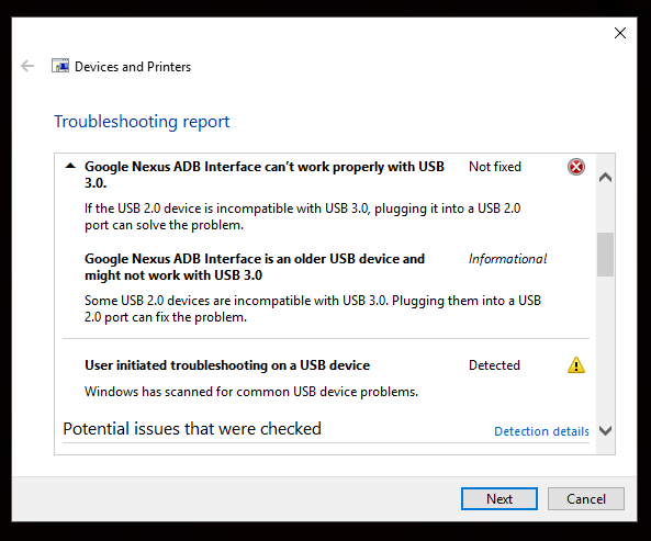 Nexus 5 not recognized by HP Omen or Windows 10 - HP Support