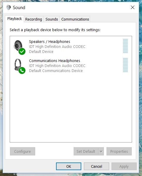 Solved: Speakers won't mute when Headphones are connected