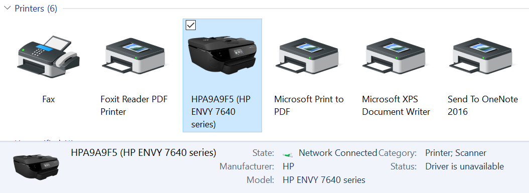 hp envy 7645 wireless driver