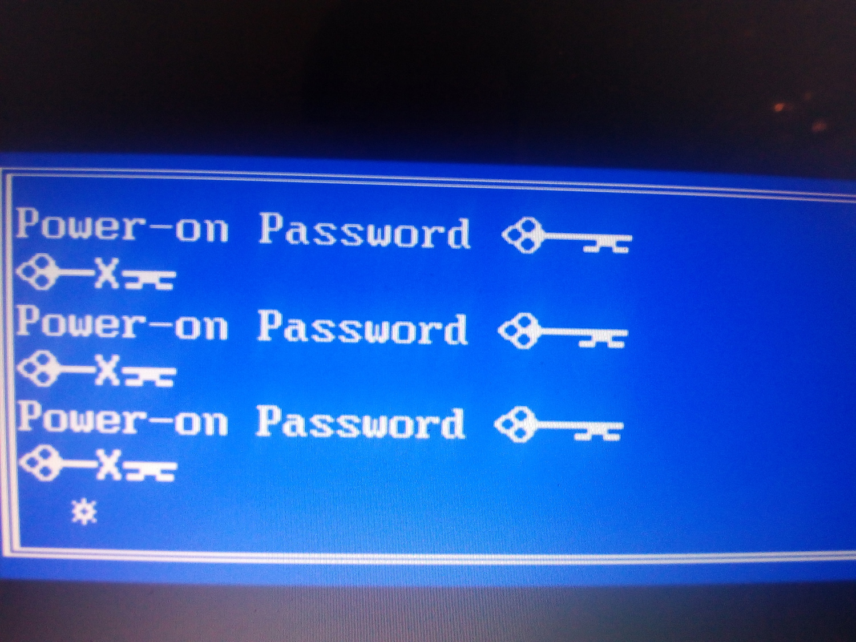 hp laptop power on password