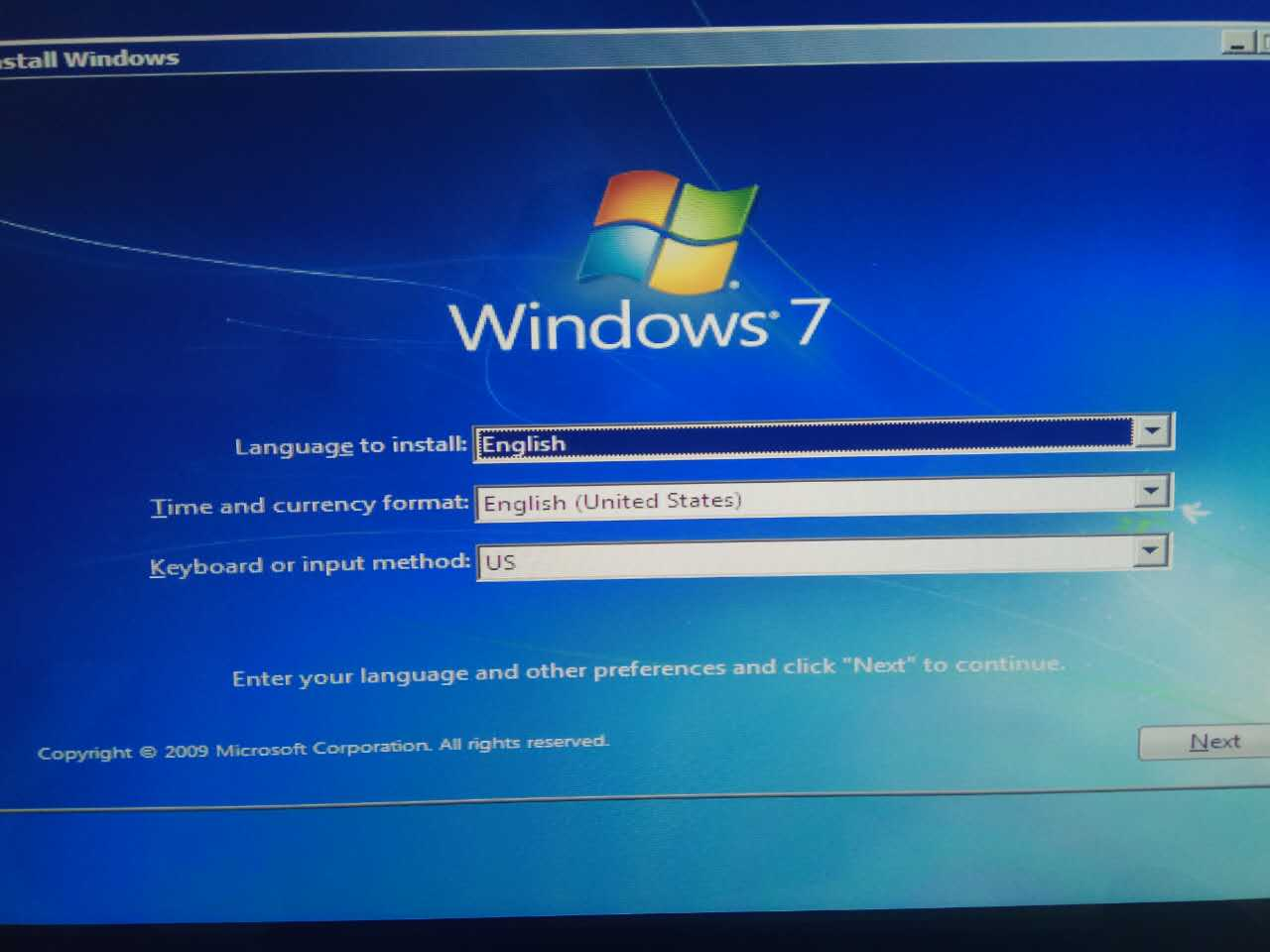Installing fresh Windows 7 on HP all in one from USB - HP ...