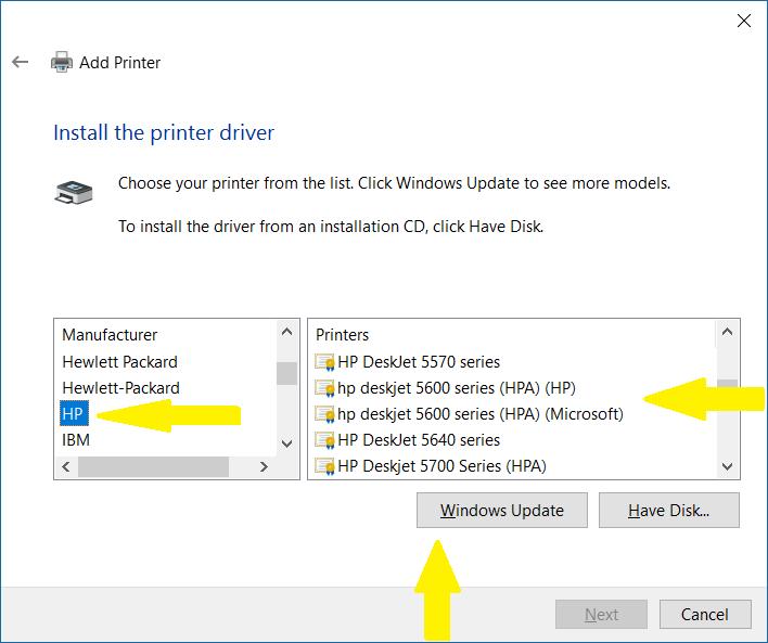 Скачать драйвер deskjet 5600 для windows 7
