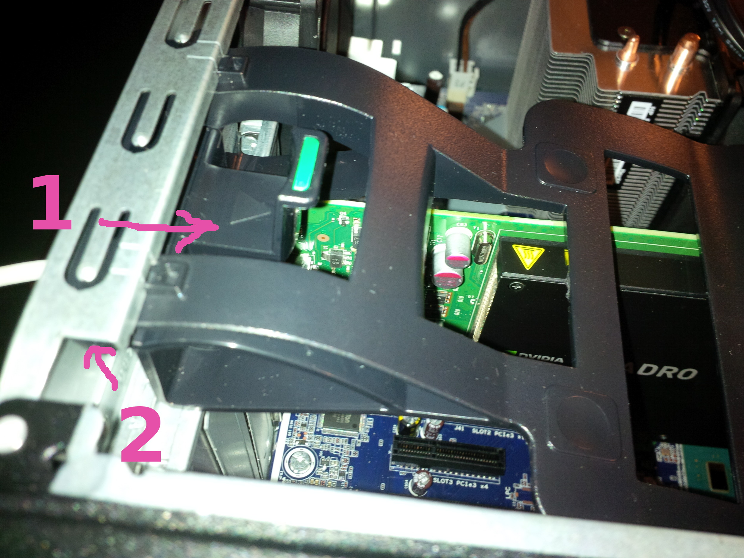 Solved: Z240: Remove pci video card bracket - HP Support