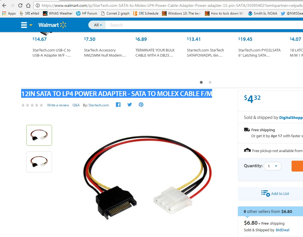 Solved Auxiliary Power Connections In Z620 Hp Support Community Molex To Sata Wiring Diagram Or Startechcom Lp4satafm12 12 Inch Lp4 Cable Adapter