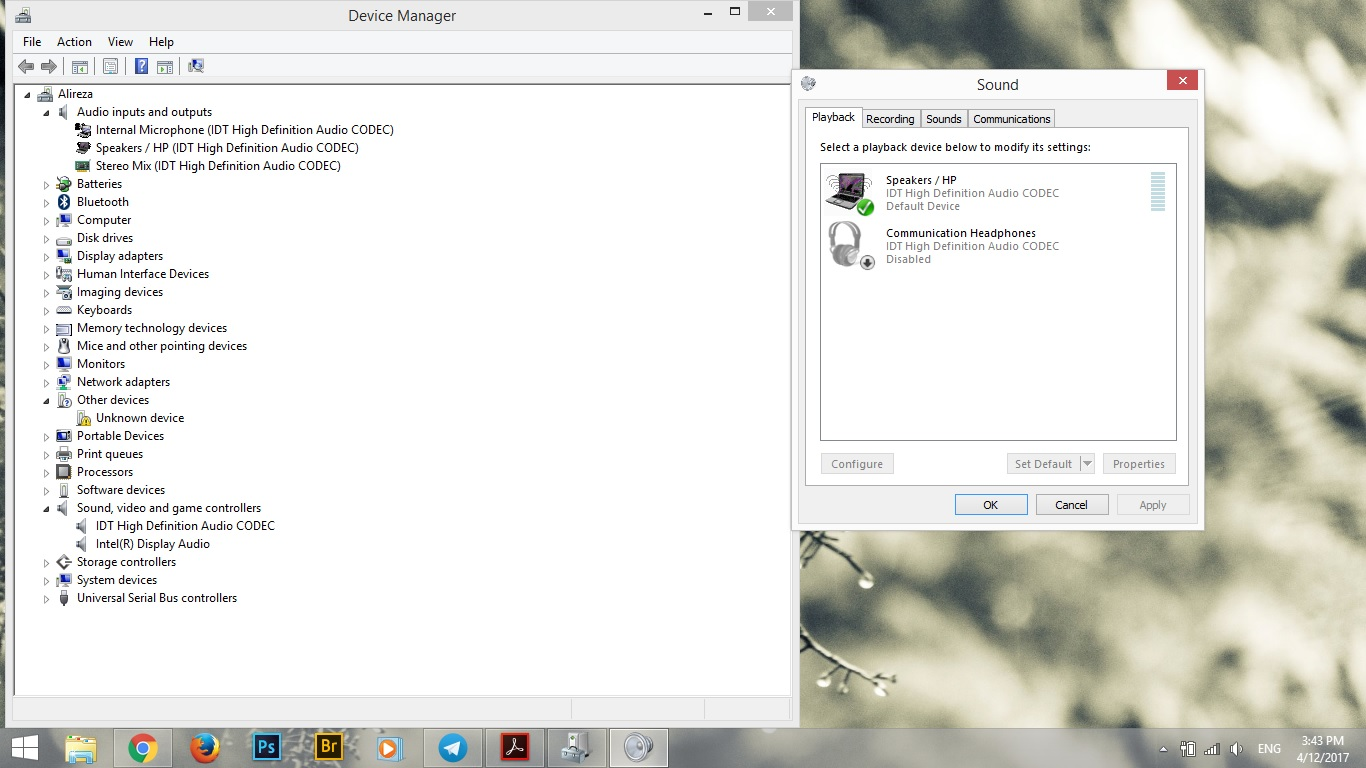 playback device and device manager