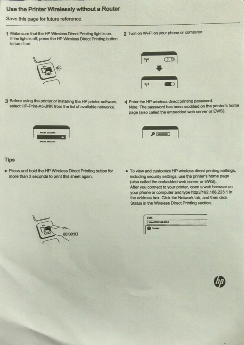 wifi direct password - HP Support Community - 6081100