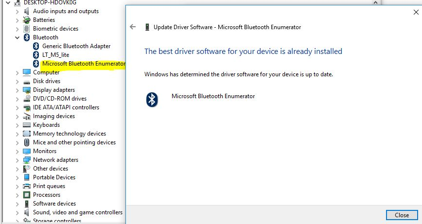 Bluetooth remote control driver broadcom