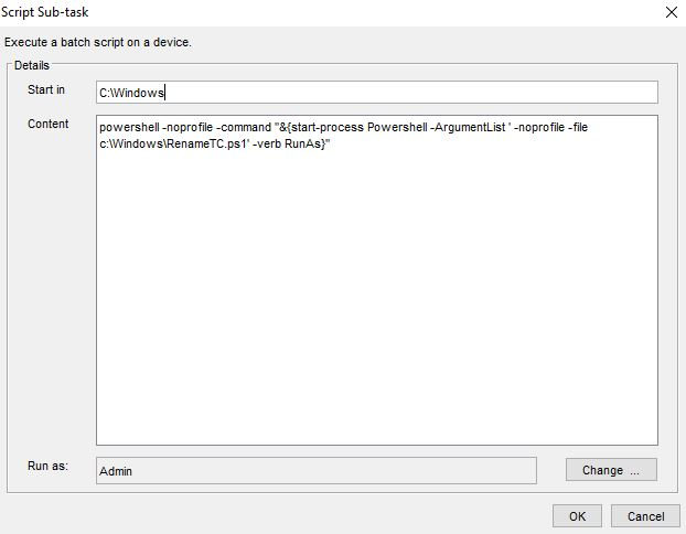 Solved: Task: script to call Powershell as Admin and run