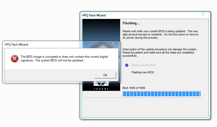 Solved: BIOS Upgrade error in HP 8300 SFF - HP Support
