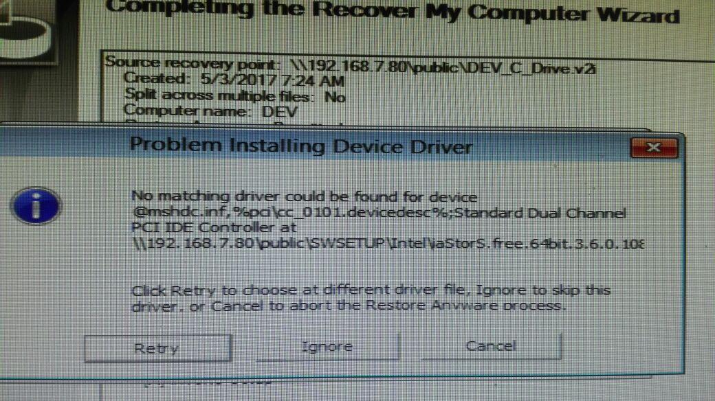 Z420 Workstation driver Missing for PCI\VEN_8086&DEV_ 1D3D&S