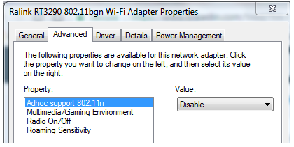 WIFI adapter not showing some SSIDS and not connecting to so