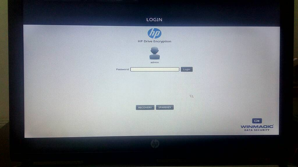 Solved: Encrypting hard drive locked by winmagic - HP