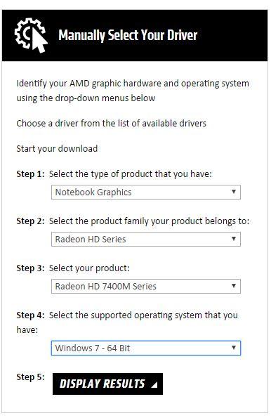 Amd radeon™ hd 7400m series graphics.