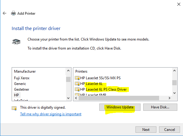Download and install hp hp laserjet 5si/5si mx ps driver id 1711902.