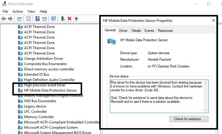 HP MOBILE DATA PROTECTION SENSOR DRIVERS FOR WINDOWS