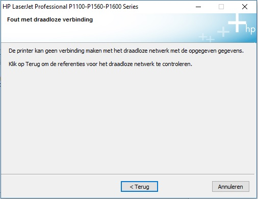 hp computer wont connect to network
