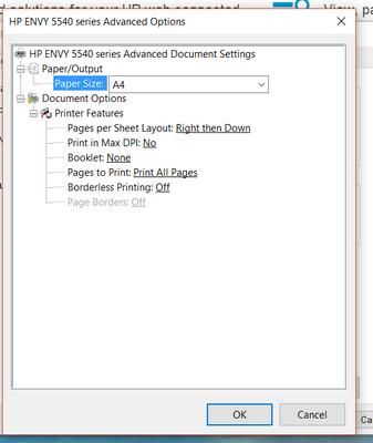 PNG HP Printer Advanced Properties WindowPNG