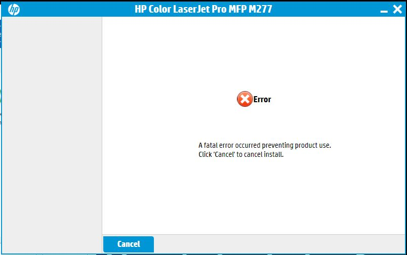 Fatal error installing HP software - HP Support Community
