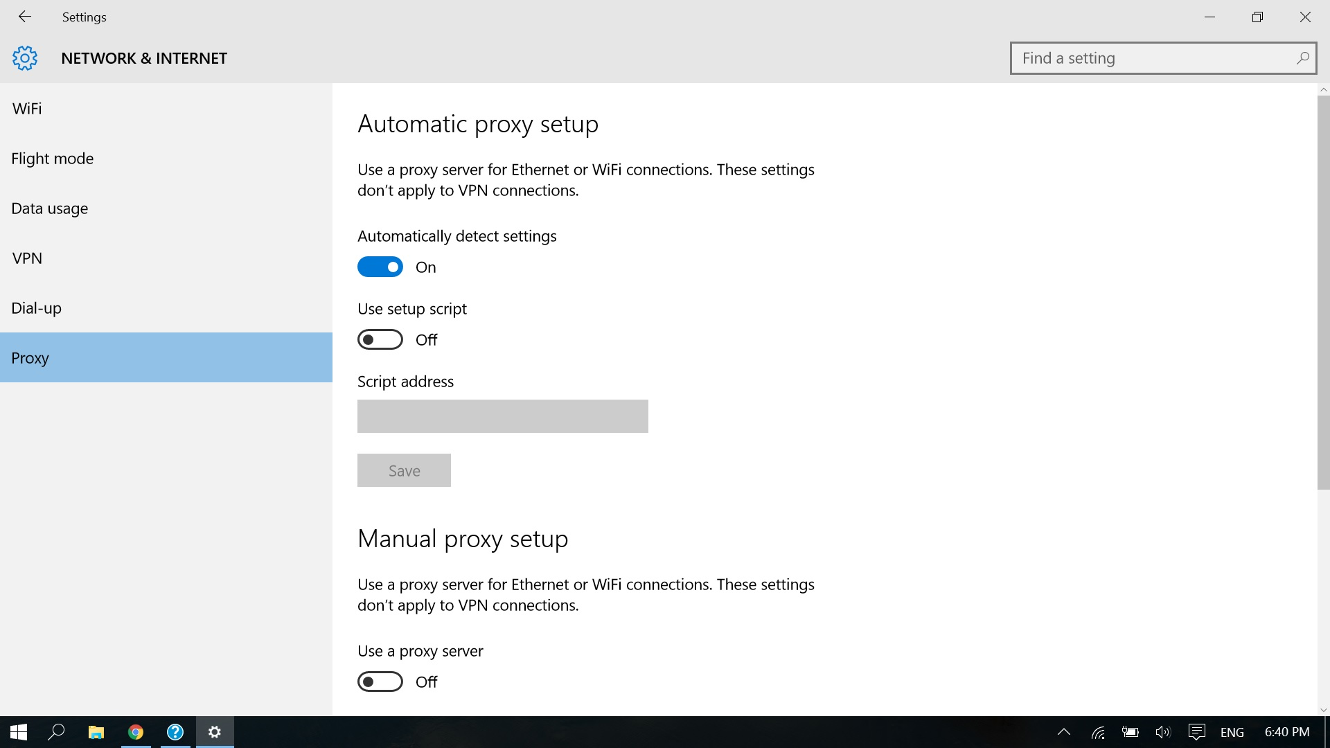 My Windows 10 doesnt have Mobile hotspot option at all - HP