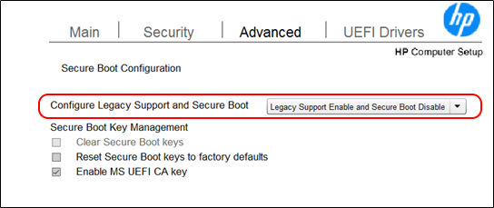 Unable to boot from USB - HP Support Community - 6035462