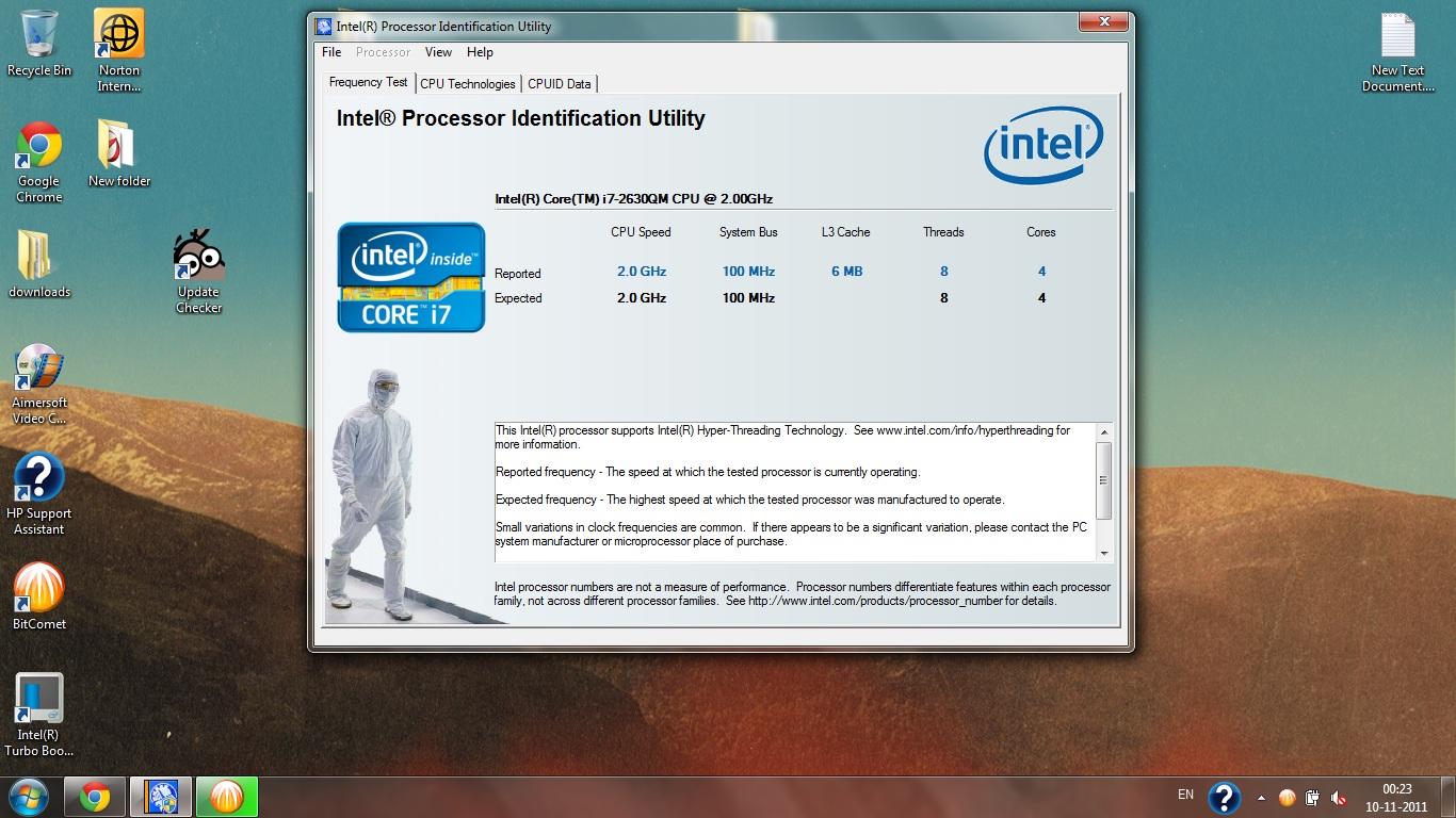 Turbo Boost Problem In Dv6 6121tx Win 7 64bit
