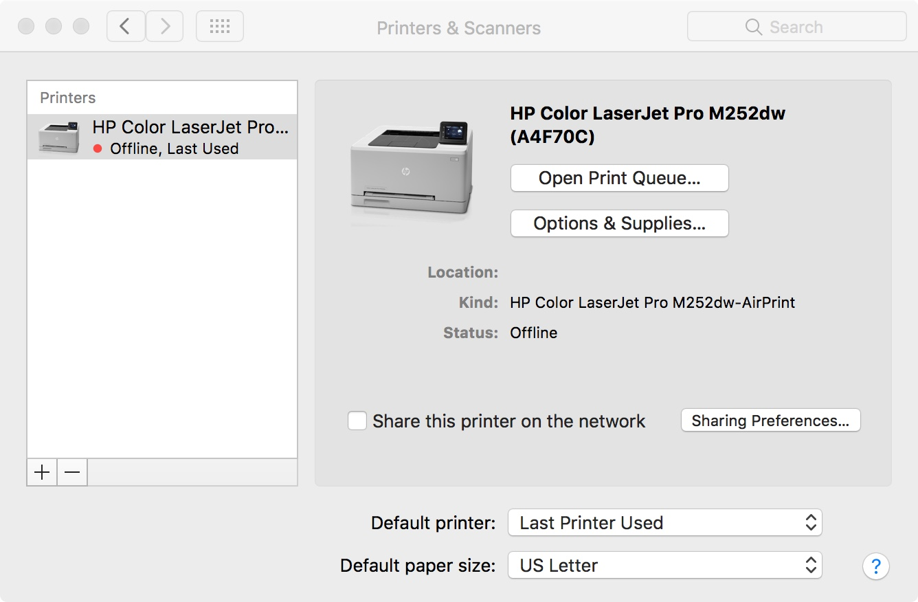 Solved: LaserJet Pro m252dw: Memory is low  Job cancelled