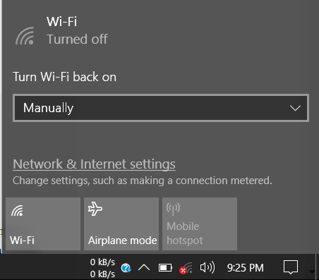 Solved: Can't Share Internet Connection using Mobile Hotspot Feature