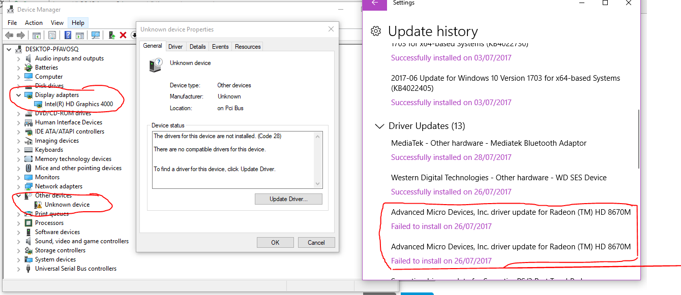 RADEON HD 8670M failed update - HP Support Community - 6244300