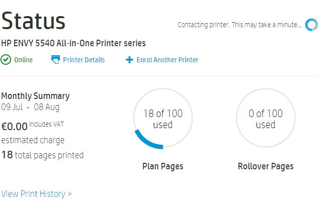 Solved: Instant Ink free trial pages - HP Support Community
