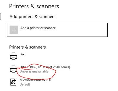 drivers for hp deskjet 2540 series