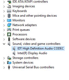 conexant high-definition (hd) audio driver - skylake (windows 10 v1607)