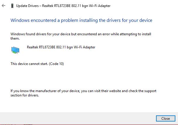 Solved: Realtek wifi adapter rtl8723be 802 11 bgn is experiencing pr
