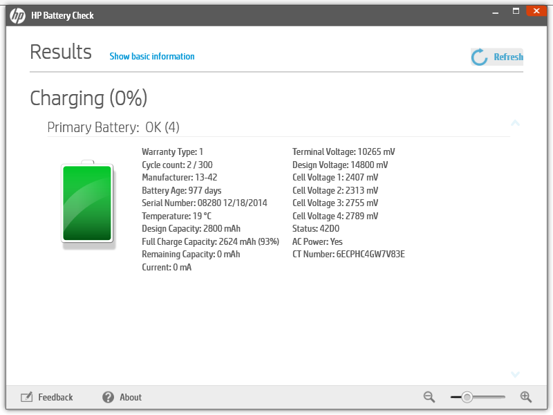 Re: Laptop battery plugged in, not charging - HP Support