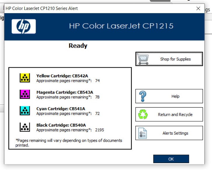 Hp color laserjet cp1215 driver download drivers & software.