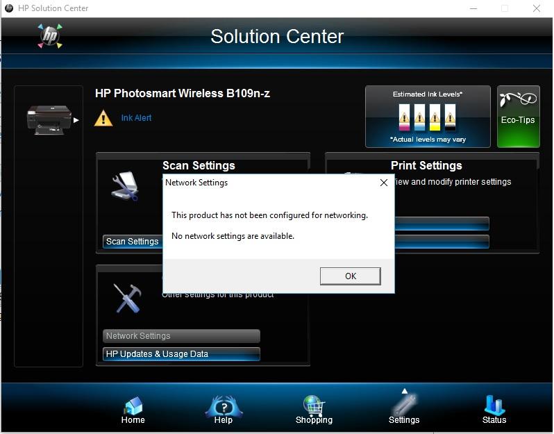 hp 109n software