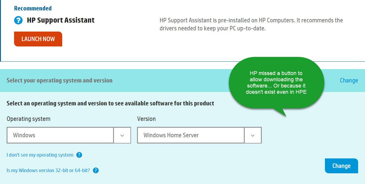 Direct download link for hp mediasmart server 2. 5 | redmond pie.