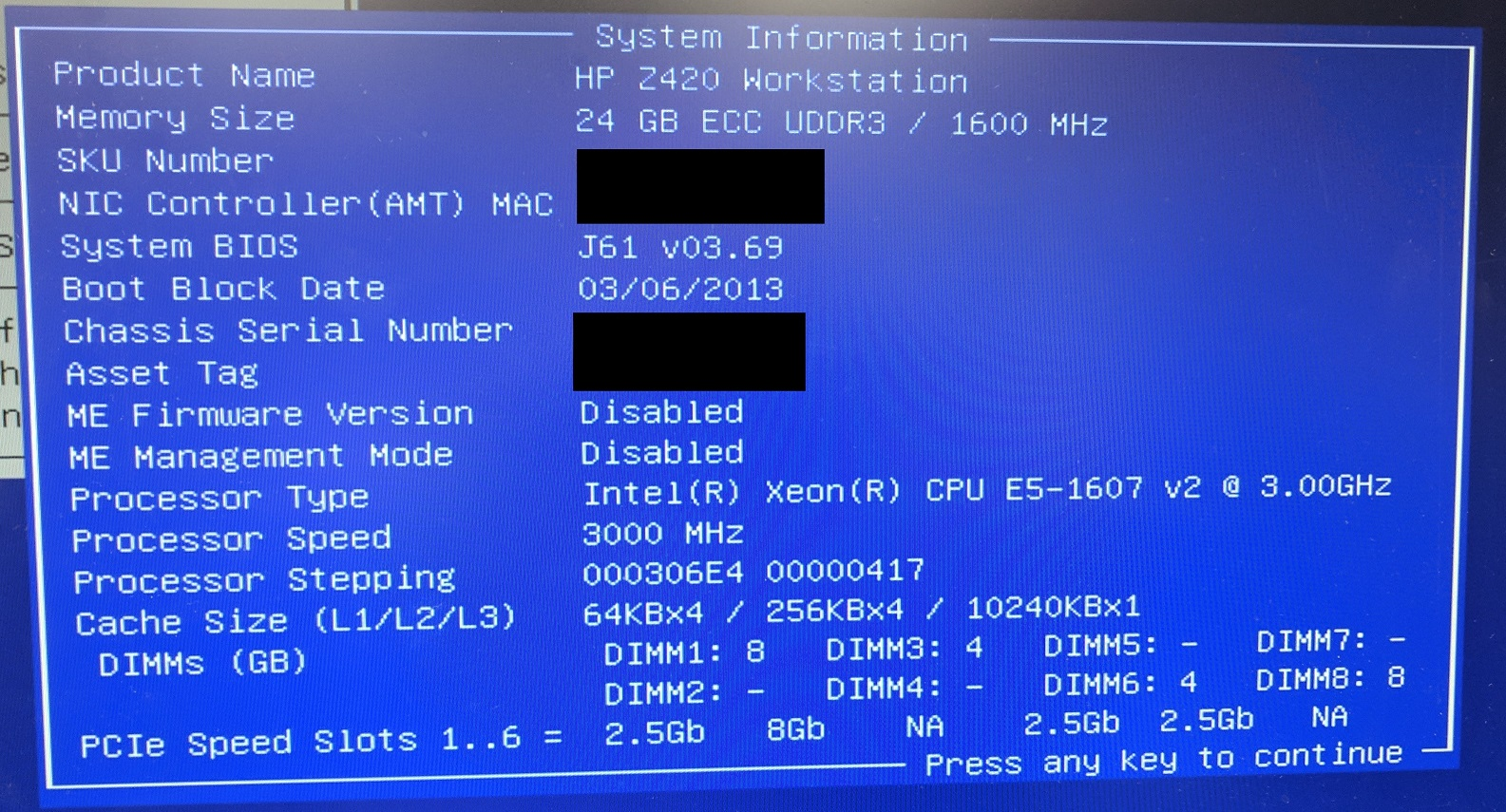 Solved: z420 Raid config and more than HDs plugged in issues