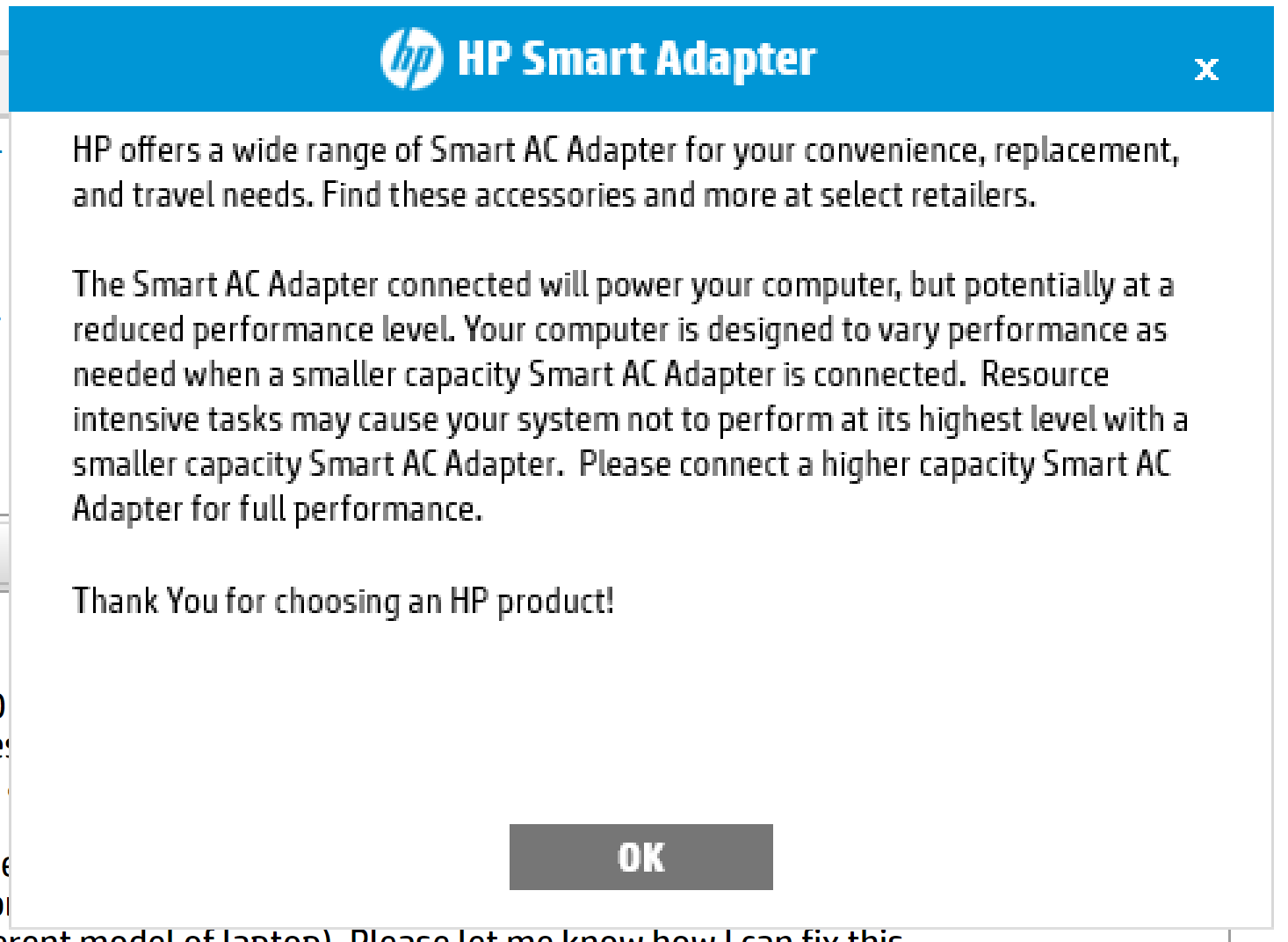 Solved: HP Smart Adapter Message - HP Support Community