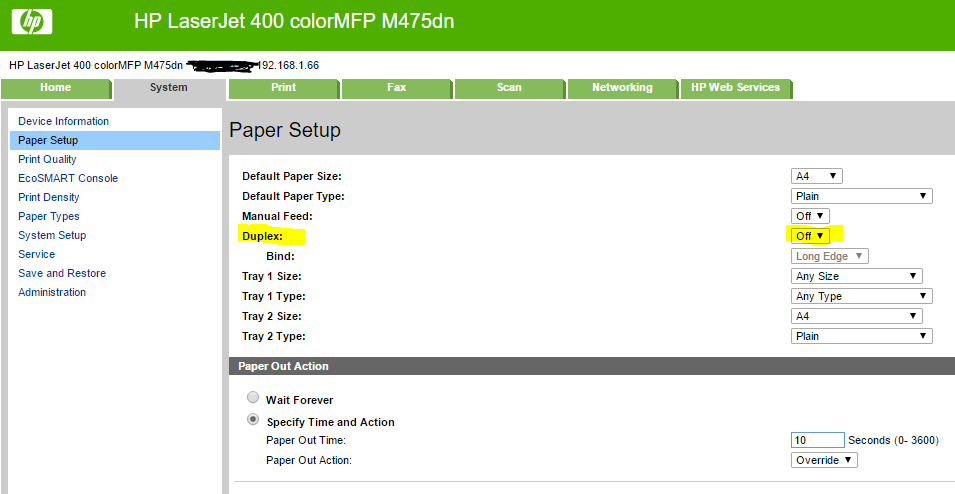 Hp M506 Disabling Duplex Printing Hp Support Community