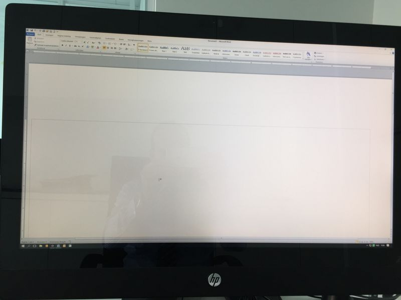 Left side of screen is darker than right side - HP Support