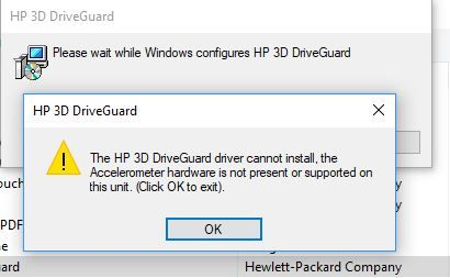 Missing HP Accelerometer after upgrade to Windows 10 install